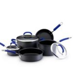Blue 8 Piece Rachael Ray Hard Anodized Cookware Set