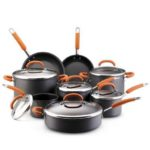 orange 14 piece Rachael Ray Nonstick Cookware Set