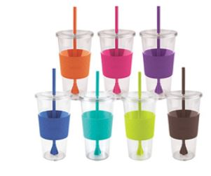 7 colored cups