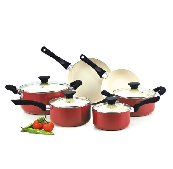 Cookware With cherry red Ceramic Coating