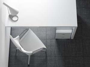 Clean white Desk