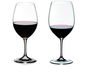 Ouverture and Vinum red wine glasses compared