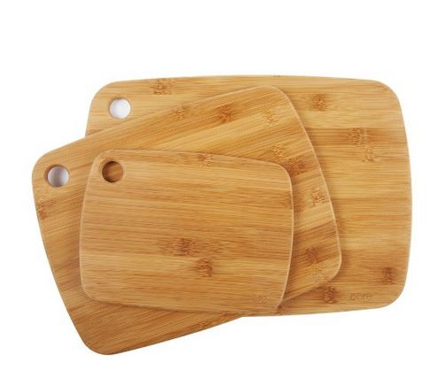 set of 3 different size wooden chopping boards