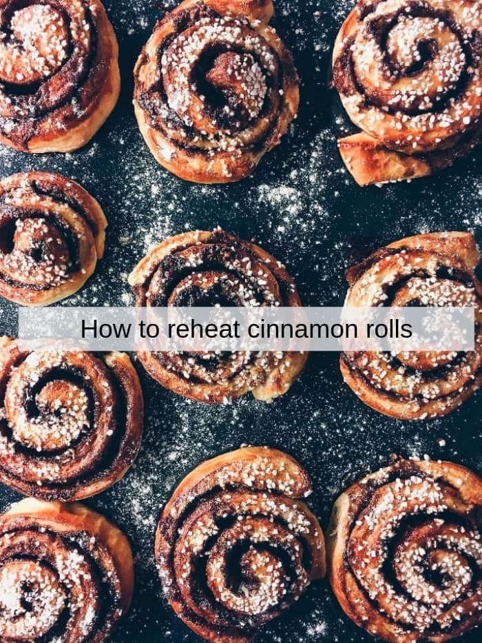 best way how to reheat already baked cinnamon rols