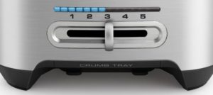 removable crumb tray of Best Long Slot Toaster
