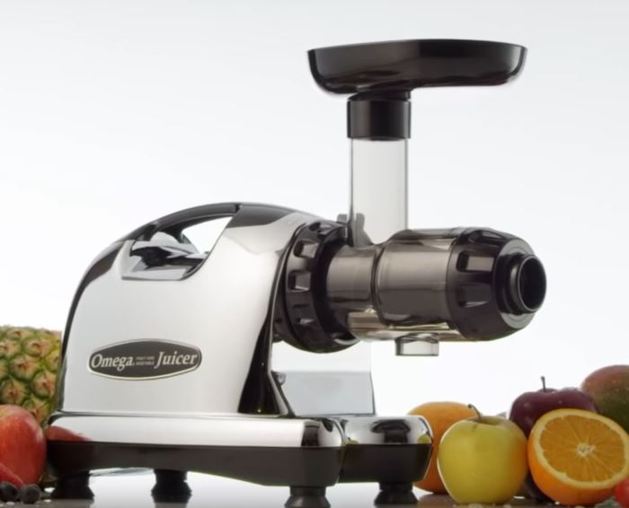 omega j8006 nutrition center masticating dual-stage juicer juice extractor chrome