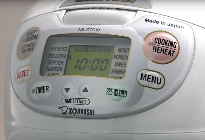 zojirushi ns-zcc10 rice cooker control panel