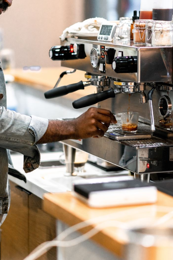 man using Best Espresso Machine For Beginners