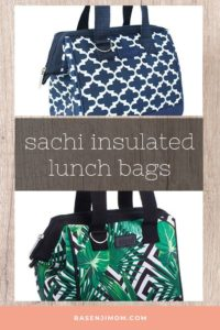 Sachi Insulated Style 34 Lunch Bags - Moroccan Navy and Palm Springs