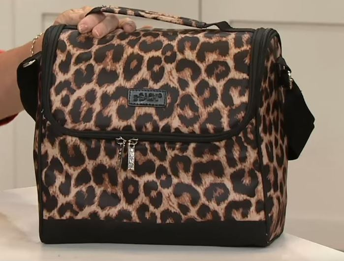 sachi crossbody insulated lunch bag cheetah