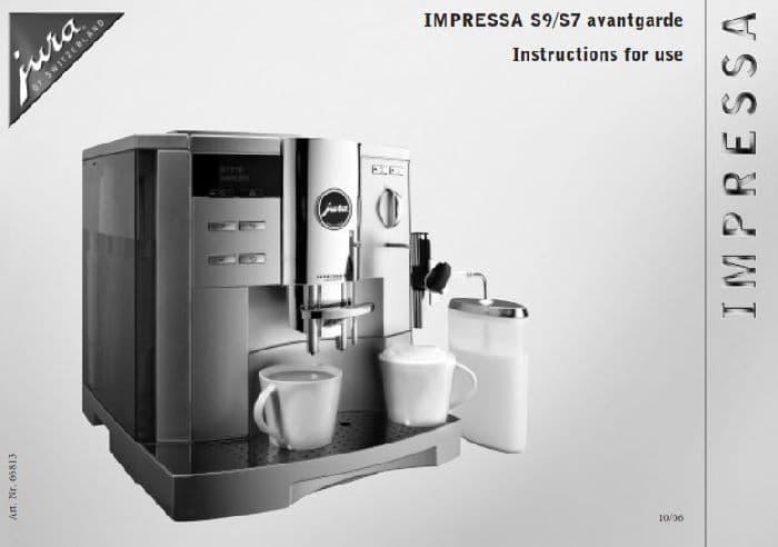 Jura Impressa S9 Manual